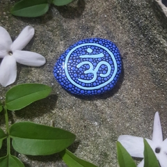 Hand painted OM stone, pebble, rock art 🕉