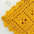 Mustard Newborn Call the Midwife Crochet Baby Blanket