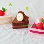 Felt Cake-Home-Play Food-Decor-Fake Cake-Birthday Gift-Tea Party-Strawberry