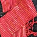 Bliss Handwoven Pink Silk Scarf