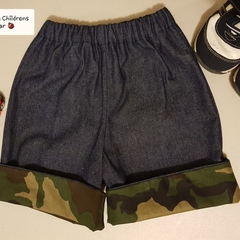 Little hipster shorts, with green camo cuffs. Size 1