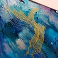 Koi pond - original painting