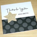 Personalised Thank you Christmas card - teacher - coach