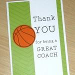 Thank you card - coach team manager - soccer basketball - netball - football