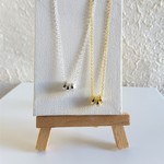 Small rings Anxiety necklace ( Minimal  Gold Silver Bronze Antique gold Black )