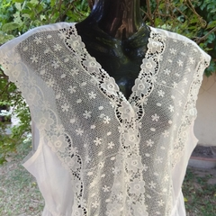 Vintage Style White Cotton Lawn Nightgown with Lace (Lacy)Size 14 in  stock