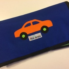 ~ Take Anywhere Car Playmat in Blue with 4 car 'garage' ~ READY TO POST ~