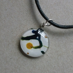 Judy - small painted pendant