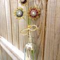 Twine Blossom Flower Stem Vase Planter Rustic Floral CountryDecoration