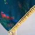 Teal Australian Parrot and Waratah Scarf