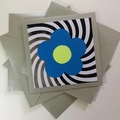 Fab Four Psychedelic Blank Cards on Silver