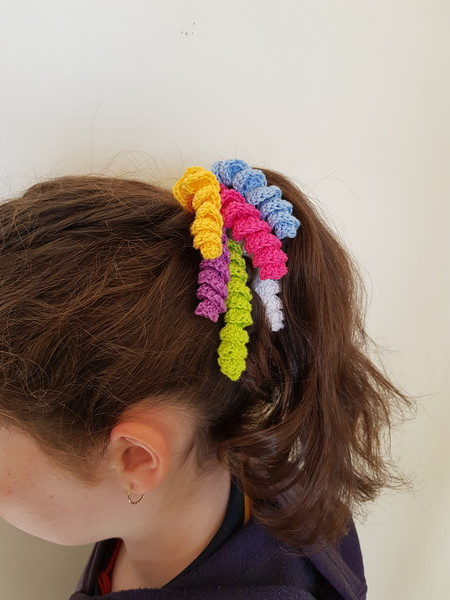 Rainbow Unicorn Mane Hair Elastic