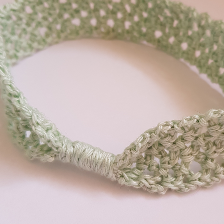 Baby Girl Headband 0-6 months Pale Green