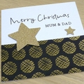 Personalised Christmas card - family - teacher - friends