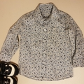 Japanese liberty lawn blue and white floral button down shirt. Size 3