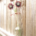 Twine Blossom Flower Stem Vase Planter Rustic Floral Country Decoration