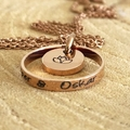 Lotus Necklace, Hand Stamped Ring, Personalised Gift, Personalised Necklace