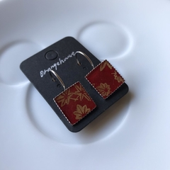 Free Postage, Japanese Washi paper resin earrings