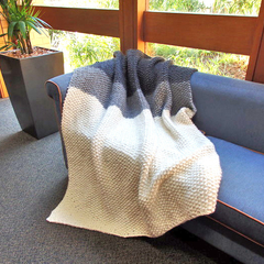 Luxuriously Soft Wool/Alpaca Hand Knitted Blanket/Throw