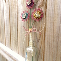 Twine Blossom Flower Stem Vase Rustic Floral Country Decoration Butterfly