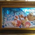 Seashell Resin Display Feature Frame