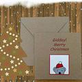 2 x Christmas Magnet Cards Peek-a-boo Koala