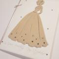 Elegant Bride Wedding Card, On Your Wedding Day Card