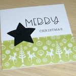 Merry Christmas card - winter woodland