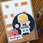 Teacher card - girl student thank you - thanks - gift card handmade - free post