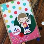 Teacher card - thank you - thanks - gift card handmade - free post