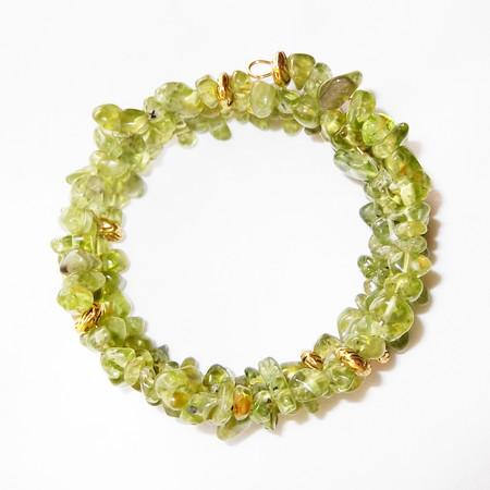 Olivine – Gemstone Chip Bracelet