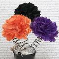 Hocus Pocus Poms / Tissue Paper Flowers / Halloween