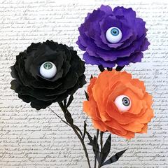 Peek-A-Boo Peonies / Paper Flowers / Halloween