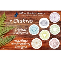 7 Chakras Machine Embroidery Designs ~ String Art Resemblance 5 x 7 hoop SE10038