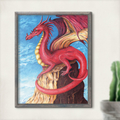 Fantasy Dragon Instant Download Printable Artwork | A3, A4 & A5 included
