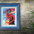 Fantasy Dragon Instant Download Printable Artwork   A3, A4 & A5 included