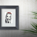 Lola - Graphite Instant Download Printable Wall Art | A3 A4 A5 | Nursery Decor