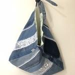 Upcycled denim bento bag