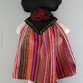 Mexican Frida Folk Doll