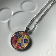 Free Postage, Japanese washi paper resin necklace