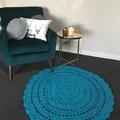 Jade Green Crochet floor rug Free postage