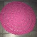 Bright Pink Crochet floor rug