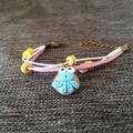Girls Fashion Women Anchor Best Friend Rope Leather Bracelet Jewellery Bangles