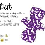 Bat | Reusable Cloth Menstrual Pads | PDF Sewing Pattern | Daytime Bundle