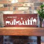 Oh Holy Night Nativity Christmas Removable Vinyl Decal