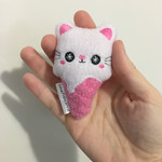 Cute Ice Cream Kitty Small Cat Plush Toy Handmade Gift Kawaii Pink