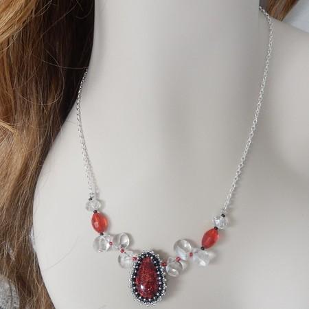 Necklace  with a unique Teardrop pendant