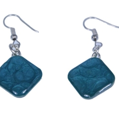 Hand Painted Blue Earrings