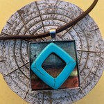 Altered Art Pendant/Necklace: Australian Outback Theme
