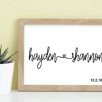 Personalised Engagement printable  typography print, wall art quote, typography